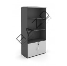 Semi Swinging Door Medium Cabinet | Office Bookcase | Office Filing Cabinet -GB741G