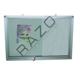 Sliding Glass Door Magnetic White Board 4' x 6'