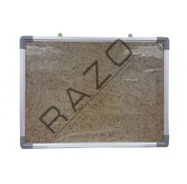 Bulletin Notice Board c/w Aluminium Frame 4' x 4'