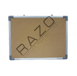 Cork Notice Board c/w Aluminium Frame 4' x 4'