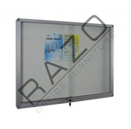 Sliding Glass Door Soft Notice Board c/w Aluminium Frame 2' x 4'