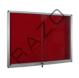 Sliding Glass Door Foam Notice Board c/w Aluminium Frame 2' x 4'