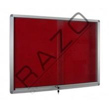 Sliding Glass Door Foam Notice Board c/w Aluminium Frame 3' x 6'
