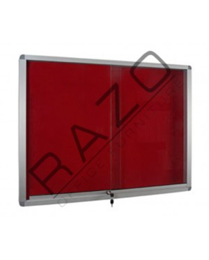 Sliding Glass Door Foam Notice Board c/w Aluminium Frame 4' x 6'