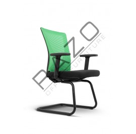 Modern Low Back Visitor Mesh Chair | Netting Chair | Office Chair -ZF-003-SE
