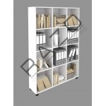 Bookcase | Cabinet | Almari Buku | Office Furniture -OR12-18(WH)