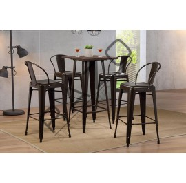 Metal High Bar Table Set | Bistro | Pub  - 11001A-10111