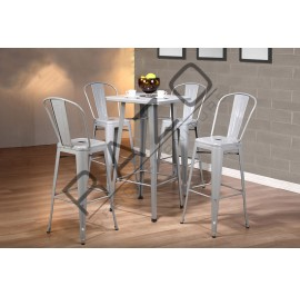 Metal High Bar Table Chair Set | Bistro | Pub  - 862T862C-S