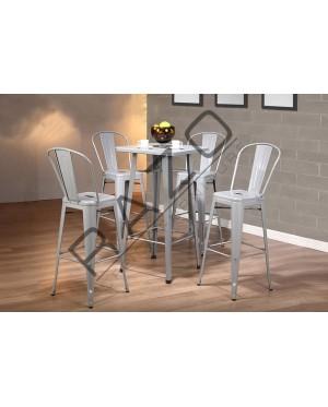 Metal High Bar Table Chair Set   Bistro   Pub  - 862T862C-S