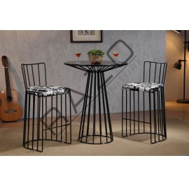 Metal High Bar Table Chair Set | Bistro | Pub  - 11040BT-11041BC