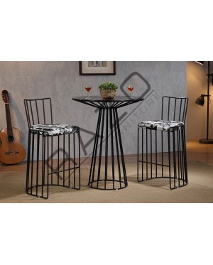 Metal High Bar Table Chair Set | Bistro | Pub  - 11040BT-11041BC