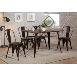 Bar Table Set | Dining Table Set | Bistro | Pub  - 10112DC-11002DTL