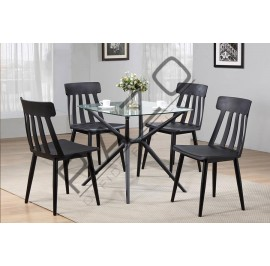 Bar Table Set | Dining Table Set | Bistro | Pub  - 11019T-56020-RCBK