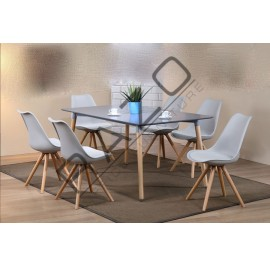 Modern Dining Table Set | Cafe Table Set -D872TGY-890CGY