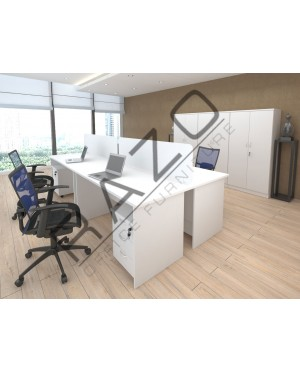 4 Slot Workstation | Office Partition Workstation -PW1570