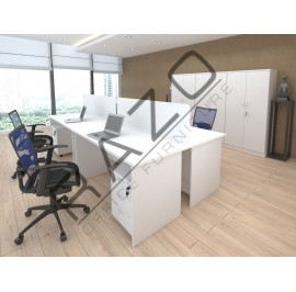 4 Slot Workstation | Office Partition Workstation -PW1870