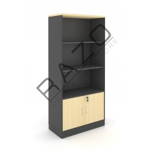 Semi Swinging Door Medium Cabinet | Office Bookcase | Office Filing Cabinet -GB741BM