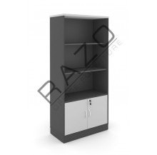 Semi Swinging Door Medium Cabinet | Office Bookcase | Office Filing Cabinet -GB741BG