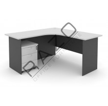 L shape Writing Table | Office Table  | Office Furniture -GL652-GM3G