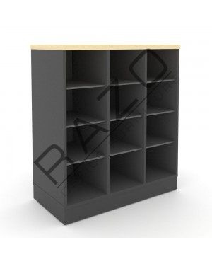 Pigeon Holes Low Cabinet | Office Furniture  -GP880BM