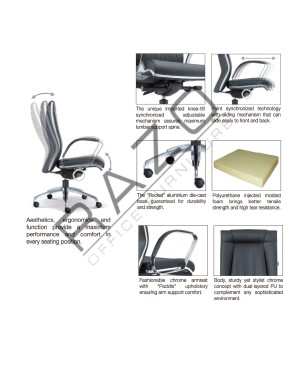 Medium Back Executive Chair   Office Chair -E1092H