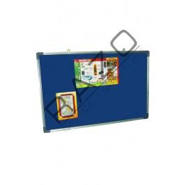 Velvet Notice Board c/w Aluminium Frame 3' x 6'