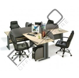 4 Partition Team Workstation | Office Partition Workstation -TW158