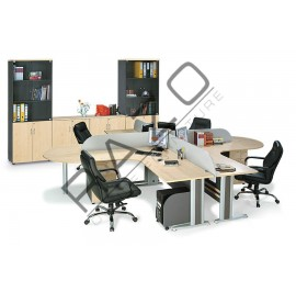 4 Partition Team Workstation | Office Partition Workstation -TLW1815