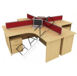 4 Partition Team Workstation | Office Partition Workstation -CL418B