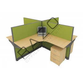 4 Partition Team Workstation | Office Partition Workstation -CL460A
