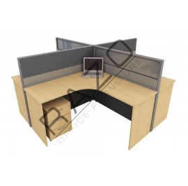 4 Partition Team Workstation | Office Partition Workstation -CL460B