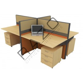 4 Partition Team Workstation | Office Partition Workstation -CL460C