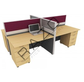 4 Partition Team Workstation | Office Partition Workstation -CL460D
