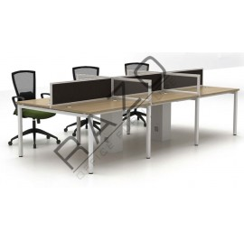 6 Partition Team Workstation | Office Partition Workstation -W1275