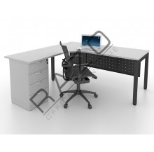 L shape Writing Table | Office Table  | Office Furniture -MUD1815G