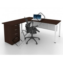 L shape Writing Table | Office Table  | Office Furniture -MUD1515W