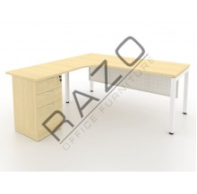 L shape Writing Table | Office Table  | Office Furniture -MUF1815M