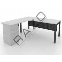 L shape Writing Table | Office Table  | Office Furniture -MUF1515G