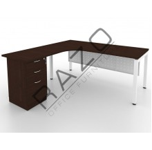 L shape Writing Table | Office Table  | Office Furniture -MUF1515W