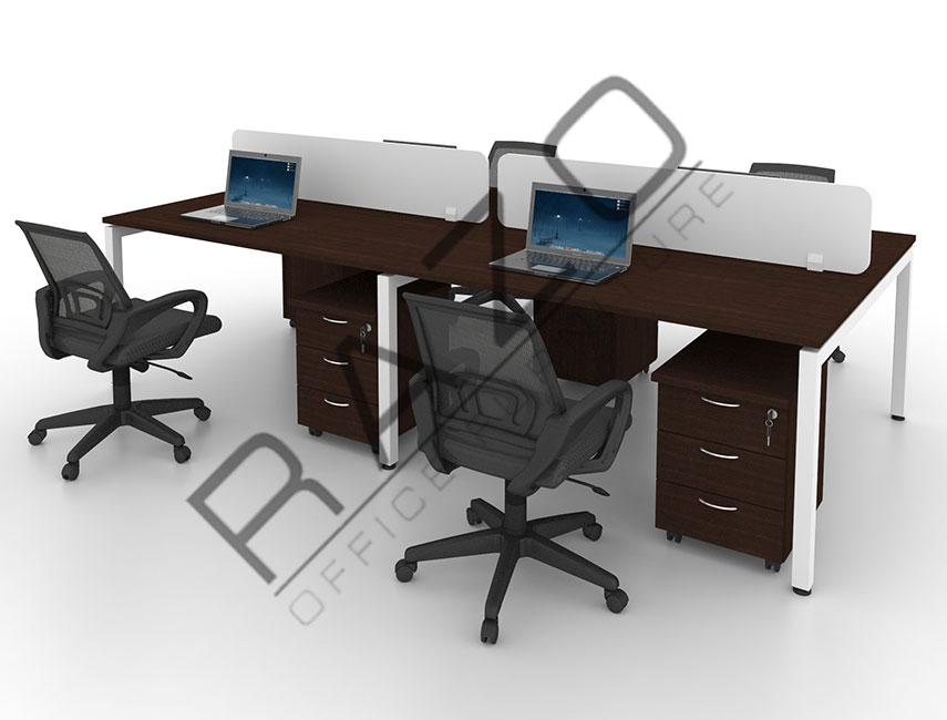 4 Partition Team Workstation | Office Partition Workstation  4PW 12BW